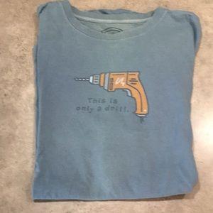 Life is Good tool tshirt